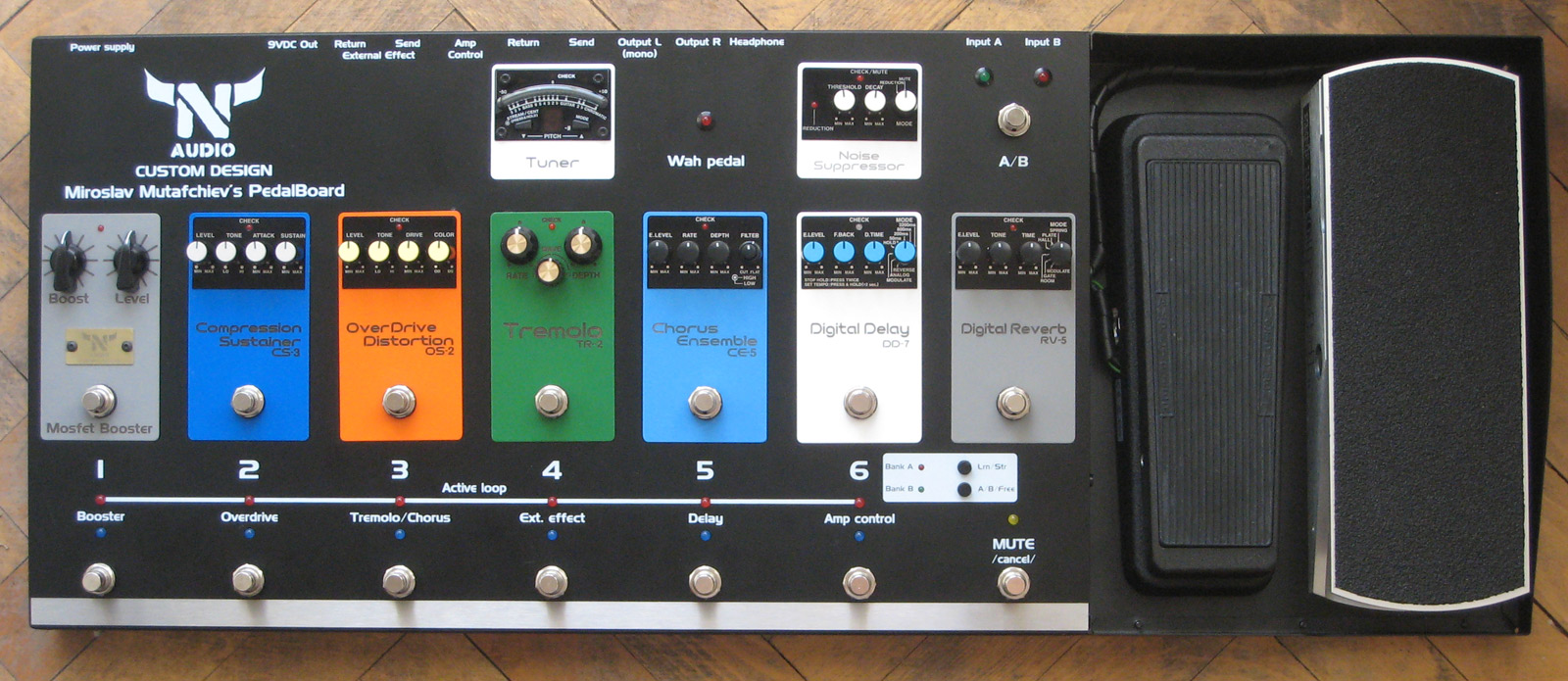 Custom Shop N Audio Electronics Booster Programmable Effects Pedalboard System