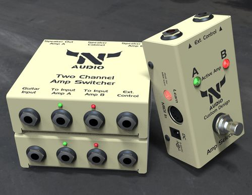 Two amps to cabinet Naudio Electronics